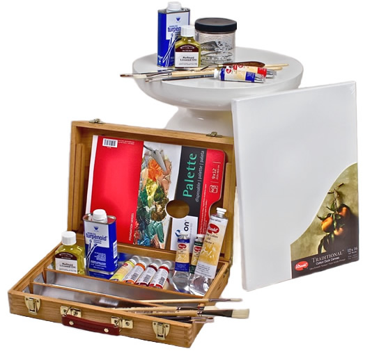 Standard oil painting kit oil painting classes art for Canvas painting supplies